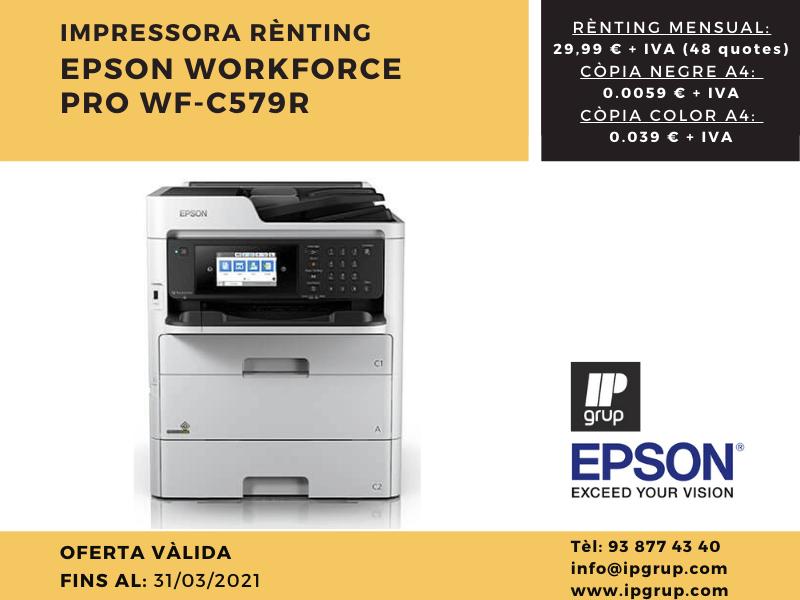 Impressora Renting IPGRUP Epsoncost per copia