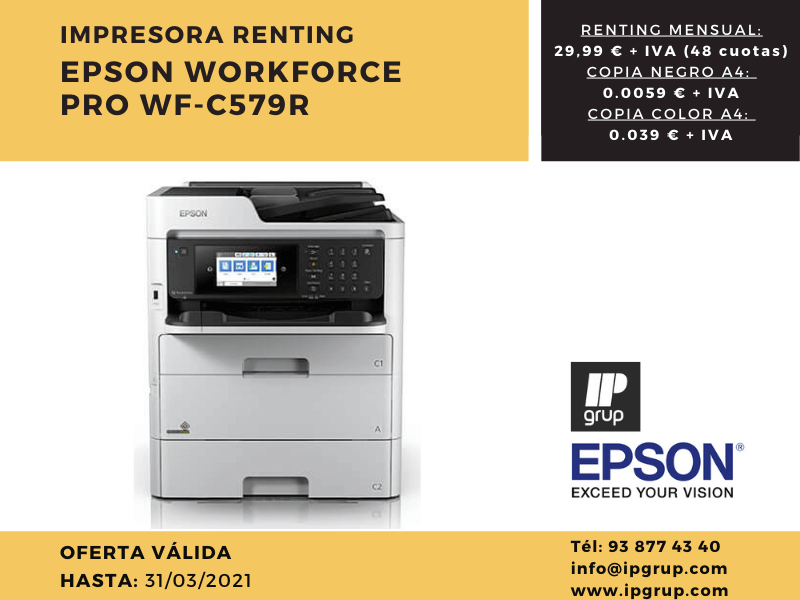 Renting Epson cost per copia, IPGRUP