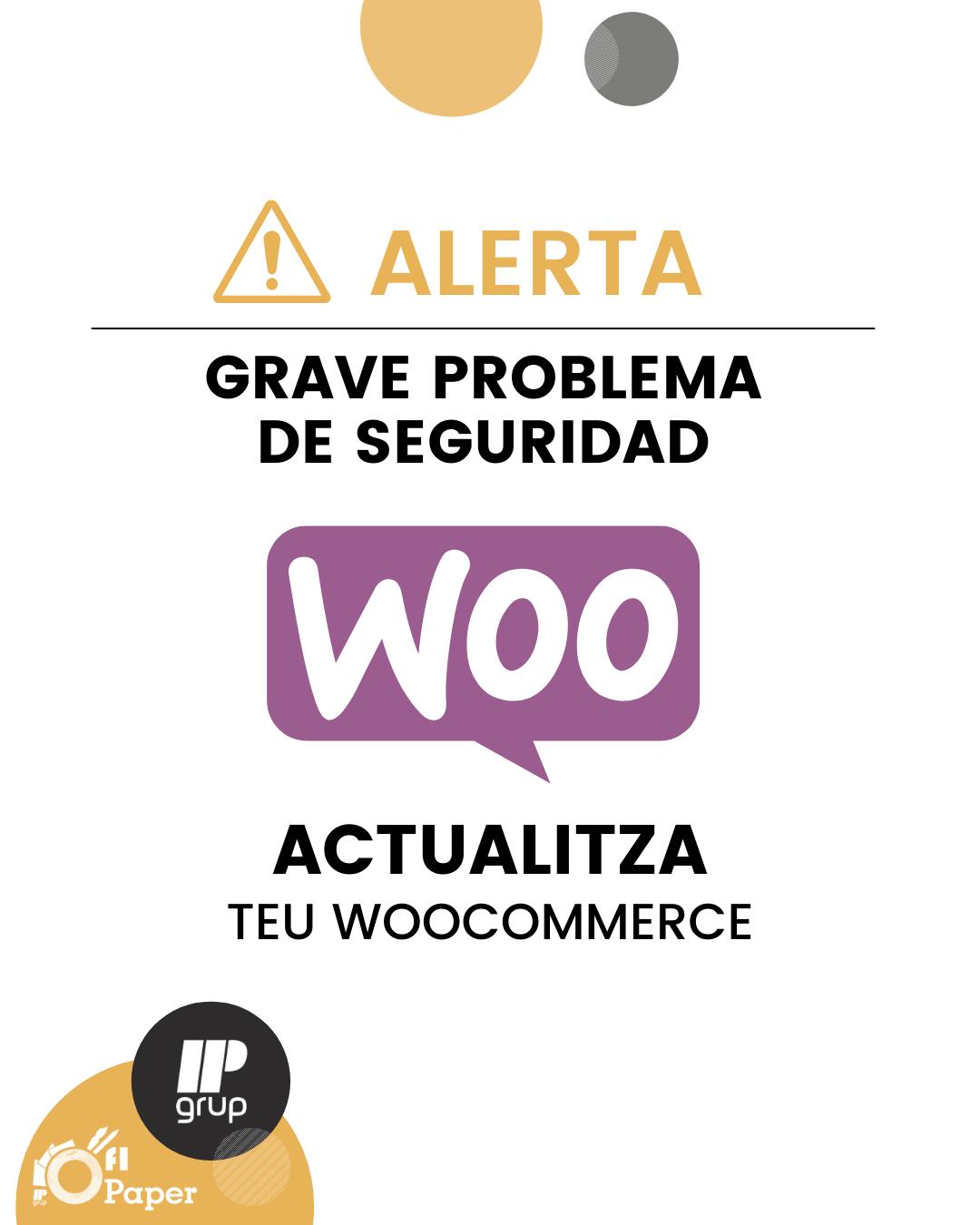 Problema seguridad WooCommerce, IPGrup